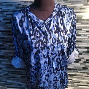 Anne Klein animal print shirt